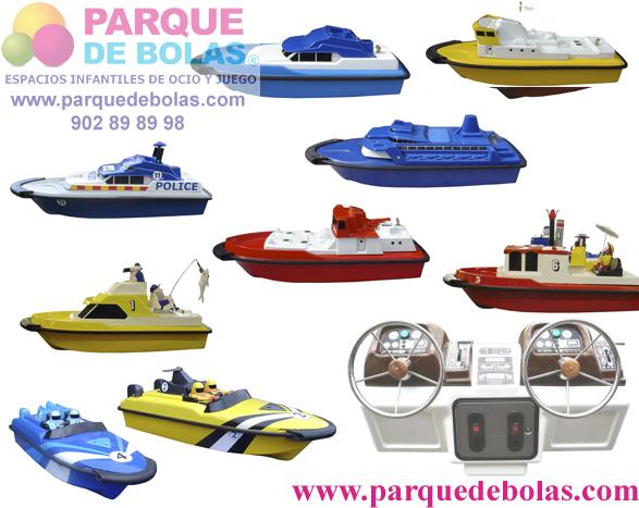 Barcos teledirigidos con moneda 80 cm (4 unidades)