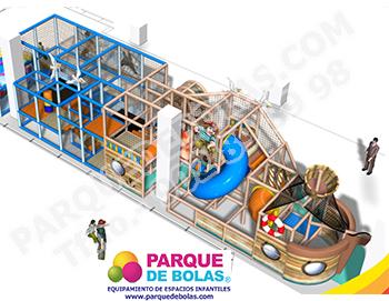 Parque de bolas tematico CORSARIOS