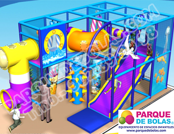 Parque de bolas tematico MUNDO MARINO