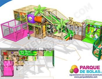 Parque de bolas tematico SELVA