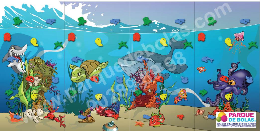 Rocodromo infantil marino
