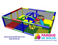 Recinto infantil Justo 1,65x1,25x0,45 m